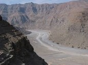 The dry riverbed Known as the wadi