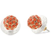 Soiree Studs-Coral
