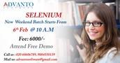 Selenium New Weekend Batch Free Demo On FEB '6th