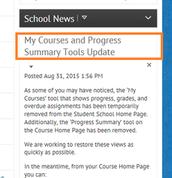 Widgets News Item in the K12 Online HS