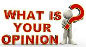 Writing Focus: Persuasive Writing- Opinion