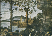 Sistine Chapel Purification of the Leper and temptation of Christ