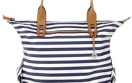 How Does She Do It, Navy Stripe - $89