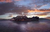Alcatraz  at evening