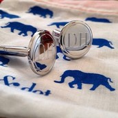 Engravable cuff links $98