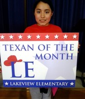 5th Grade Texan of the Month