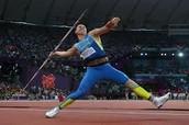 Javelin being Thrown