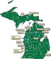 Map of Michigan rivers
