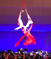 A circus act with the Hartford Symphony in Connecticut