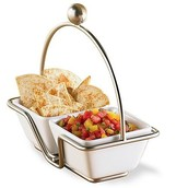 2 x Stainless Caddy & Bowl Set £12.50  (rrp 25)
