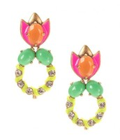 The third way to wear the Tropicana Earrings