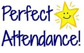 PERFECT ATTENDANCE FOR THE 1ST AND 2ND SIX WEEKS