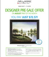 Print of the Month Designer Pre Sale for August