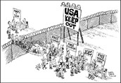 Cartoon of Immigransts