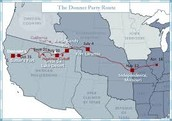 Map of Donner Party's travel