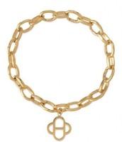 Gold Link Charm Bracelet