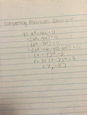 Completing the square example: