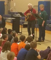 Mrs. Hajek joined in the fun by singing a solo!