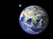 Earth and its moon