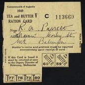 Tea and Butter Ration card