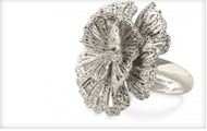 Geneve Lace Flower Ring Silver
