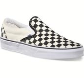 Checkered slip on's