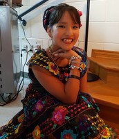 Daniella shines as a Ballet Folkorico dancer.