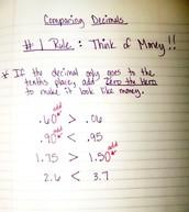 Comparing & Ordering Decimals Lesson 1-10