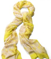 Super-Soft Palm Springs Scarf (Citrine Floral)