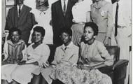 Members of the Little Rock Nine