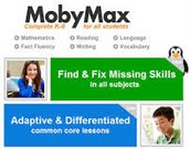 Moby Max personalized for the students