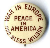Campaign button from the election of 1916