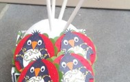 Christmas Penquin Cupcake Toppers