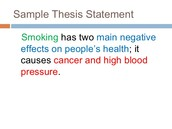 The Thesis Statement is the controlling idea
