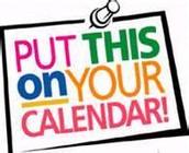 2014 Important Dates