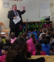 Mr. Danny Wells Comes to Barhitte to Share Social Studies Lesson