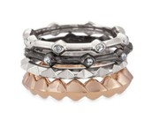 Katelyn Mixed Bands Ring - Size 9