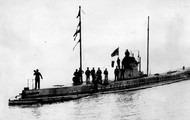 A German U-Boat off the shores of Germany