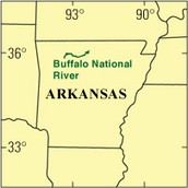 A map of the Buffalo River