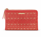 Geranium Double Clutch  Bag - Was £80 Now £40