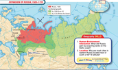 Map of Russia during the age of Absolutism