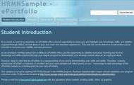 example of student e-portfolio