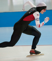 A speed skater at the 2013 world championships