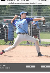 Pitching in the last game. BOO YEA