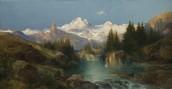 Sunset, Green River Butte, 1916