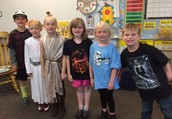 Students in Mrs. Fisher's class celebrated May 4th-  Star Wars Day