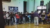 Mr. Owens and the ECMS Pep Band
