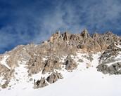 الثلوج على الجبال