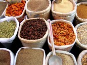 you will sell spices and other foods.