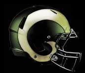 Colorado state football helmet